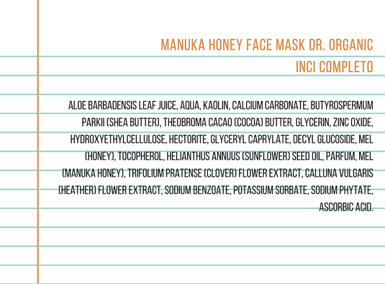 dr organic manuka honey inci